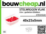 Stelwiggen 40x23x5mm (100 st.)_