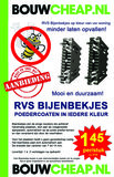 Bijenbekje stootvoegrooster RVS 50mm Gemoffeld_