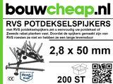 RVS Potdekselspijker 2,8x35 - 100 stuks_