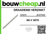 Draadeind m8 din975