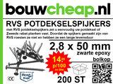RVS Potdekselspijker 2,8x50 - 100 stuks_