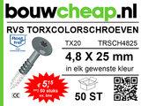 RVS TorxColorschroeven 25mm 50 st_