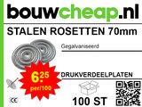 Stalen rosetten 70mm (100 stuks)_