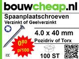 Spaanplaatschroeven TX 4.0x40mm PVK 100st_