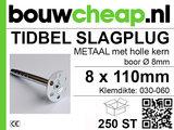 TIDBEL metalen holle slagpluggen 8x110mm_