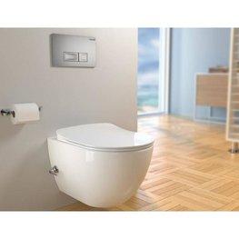 Design ophang wc met sproeier (Bidet) Rimfree 51cm incl. Zitting flat softclosing
