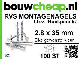 Rvs Rockpanel nagels 2.8x35mm