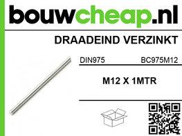 Draadeind verzinkt M12