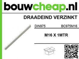 Draadeind verzinkt M16