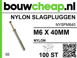 Nylon Slagplug M6x40mm