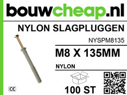 Nylon Slagplug M8x135mm