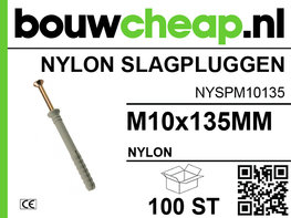Nylon Slagplug M10x135mm
