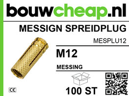 Messing spreidplug M12 (100 st.)