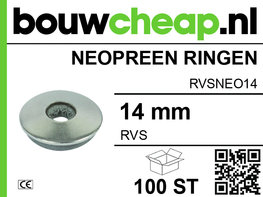 RVS Neopreen ring 14MM (100 ST.)