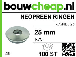RVS Neopreen ring 25MM (100 ST.)