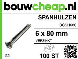 Spanhulzen 6x80mm (100 ST.)