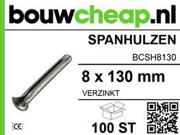 Spanhulzen 8x130mm (100 ST.)