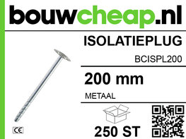 Metalen isolatieplug 200 mm (250 ST.)