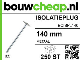 Metalen isolatieplug 140 mm (250 ST.)