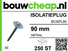 Metalen isolatieplug 90 mm (250 ST.)