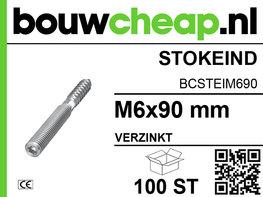 Stokeinden verzinkt M6x90 mm (100 ST.)