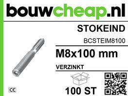 Stokeinden verzinkt M8x100 mm (100 ST.)