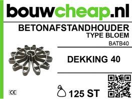 Betonafstandhouder type bloem Ø 40mm (125 st.)