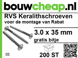 RVS Keralith schroeven 3,0 x 35mm