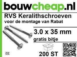 RVS Keralith schroeven 3,0 x 35mm