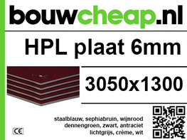 HPL plaat 6mm 3050x1300mm