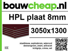 HPL plaat 8mm 3050x1300mm
