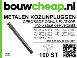 Metalen kozijnpluggen PK GVZ