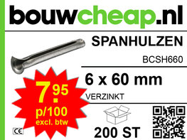 Spanhulzen 6x60mm (200 ST.)