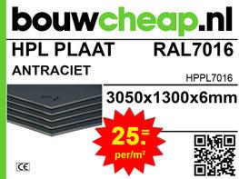 HPL plaat RAL7016 antracietgrijs