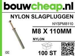 Nylon Slagplug M8x110mm