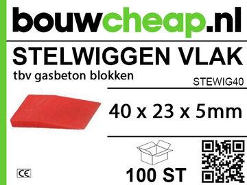 Stelwiggen 40x23x5mm (100 st.)