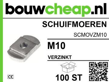 Schuifmoeren verzinkt M10 (100 ST.)