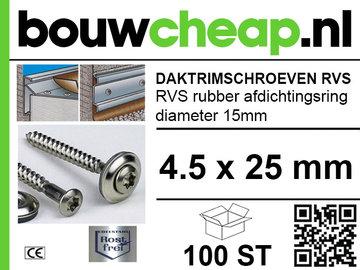 Daktrimschroeven RVS 4,5 x  25mm (100st)