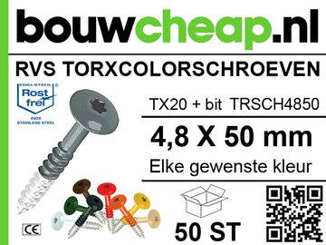 RVS TorxColorschroeven  50 mm 50 st