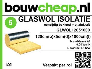 Glaswol isolatie 50mm R=1.3 // 1.20 x 10mtr