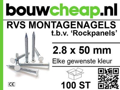 Rvs Rockpanel nagels 2.8x50mm