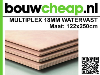 Multiplex Watervast 18mm 122 x 250 cm