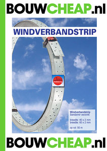 Windverbandstrip 40x2x50mtr