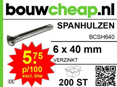 Spanhulzen 6x40mm (200 ST.)