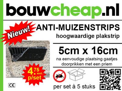 Anti Muizenstrips 5x16cm met hoogwaardige plakeigenschap