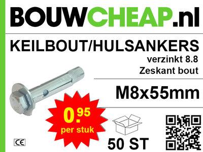 Keilbout/Hulsanker 8.8 M8x55mm