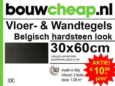 """Vloertegels """"Belgisch Hardsteen Look"""" 30x60"""
